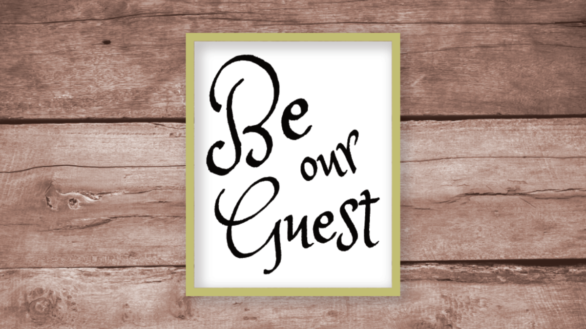 Be Our Guest Free Printable Wall Art