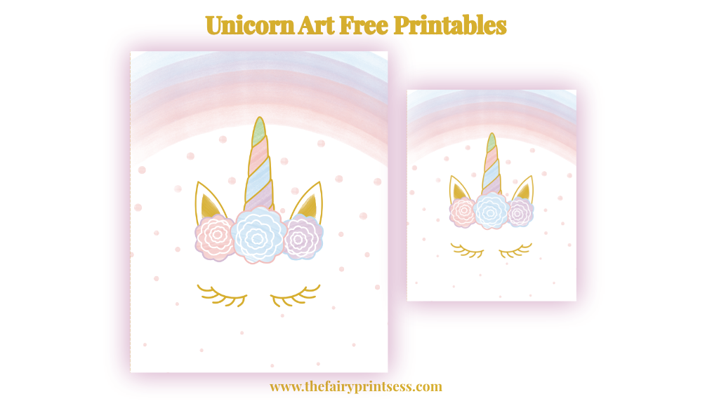 Eyelash Unicorn Free Printable Art - 8x10 And 5x7 Sizes!