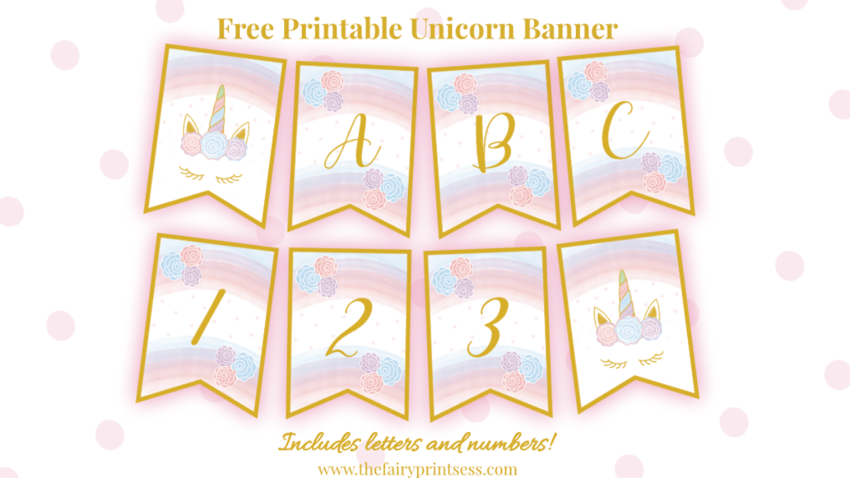 Free Printable Unicorn Banner Perfect For Party Decor And More