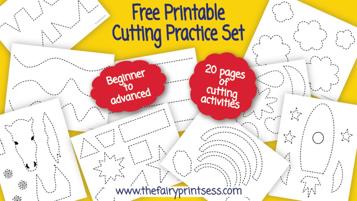 Cutting Practice Free Printable Plus How To Improve Scissor Skills