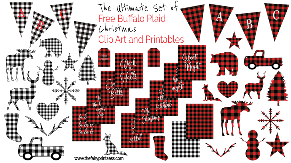 The Most Awesome Buffalo Plaid Printables And Clip Art Set All Free